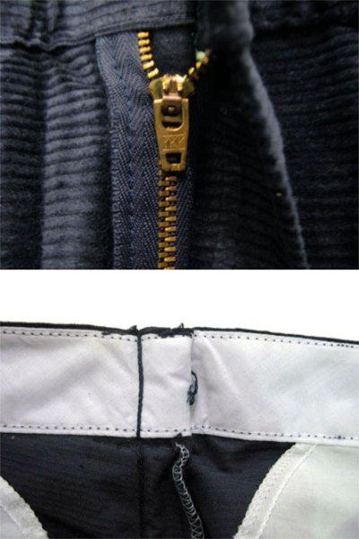 """画像1: 1990's """"Dickies"""" ヨコ畝 Corduroy Trousers DEAD STOCK  made in USA  NAVY size W32 x L30"""