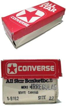 """画像2: 1980's """"CONVERSE"""" ALL STAR HI side stitch Dead Stock """"IRREGULAR"""" NATURAL  size US 12 (30.5cm) (2)"""