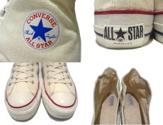 """画像4: 1980's """"CONVERSE"""" ALL STAR HI side stitch Dead Stock """"IRREGULAR"""" NATURAL  size US 12 (30.5cm) (4)"""