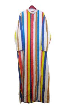 """画像1: ~1970's """"I.MAGNIN"""" Stand Collar Long Shirts Multi Stripe size Mぐらい (表記 M) (1)"""