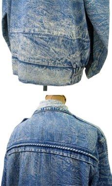 画像3: 1990's Europe Acid Wash Design Denim Jacket Blue Denim size M- L (表記 なし) (3)