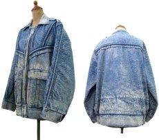 画像2: 1990's Europe Acid Wash Design Denim Jacket Blue Denim size M- L (表記 なし) (2)