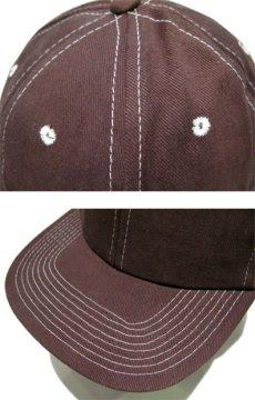 """画像4: 1990's~ """"FRONTIER"""" Cotton Baseball Cap DEADSTOCK BROWN size : one size (4)"""