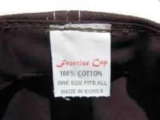 """画像5: 1990's~ """"FRONTIER"""" Cotton Baseball Cap DEADSTOCK BROWN size : one size (5)"""