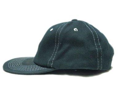 """画像1: 1990's~ """"FRONTIER"""" Cotton Baseball Cap DEADSTOCK GREEN size : one size"""