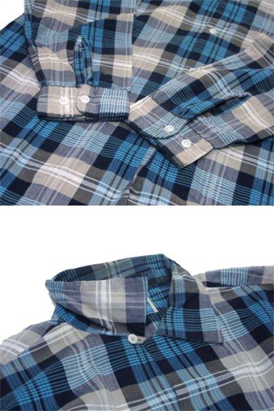 """画像2: 1960's """"TOWNCRAFT"""" OLD L/S Shirts Check Pattern BLUE 系 size L (表記 16 1/2 L  TALL)"""