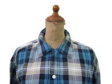 """画像3: 1960's """"TOWNCRAFT"""" OLD L/S Shirts Check Pattern BLUE 系 size L (表記 16 1/2 L  TALL) (3)"""