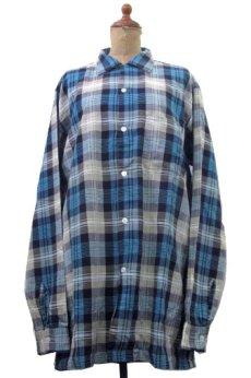 """画像1: 1960's """"TOWNCRAFT"""" OLD L/S Shirts Check Pattern BLUE 系 size L (表記 16 1/2 L  TALL) (1)"""