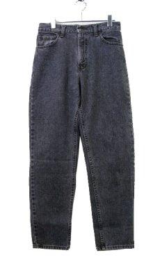 画像1: 1990's~ Levi's 550 Relaxed Fit Denim Tapered Pants Black Denim size 30 inch (表記 30 x 30) (1)