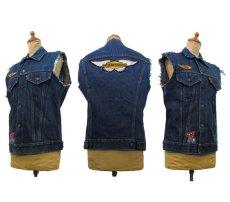 """画像2: 1970's """"Levi's"""" 70505e Cutoff Denim Vest Indigo Blue size S位  (表記 36) (2)"""