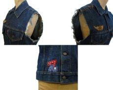 """画像4: 1970's """"Levi's"""" 70505e Cutoff Denim Vest Indigo Blue size S位  (表記 36) (4)"""