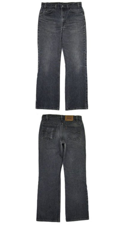 画像1: 1990's~ Levi's 517 Black Denim Pants made in USA Black Denim size 32.5 inch (表記 32 x 30)
