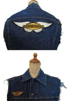 """画像3: 1970's """"Levi's"""" 70505e Cutoff Denim Vest Indigo Blue size S位  (表記 36) (3)"""