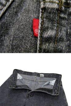 画像5: 1990's~ Levi's 550 Relaxed Fit Denim Tapered Pants Black Denim size 30 inch (表記 30 x 30) (5)