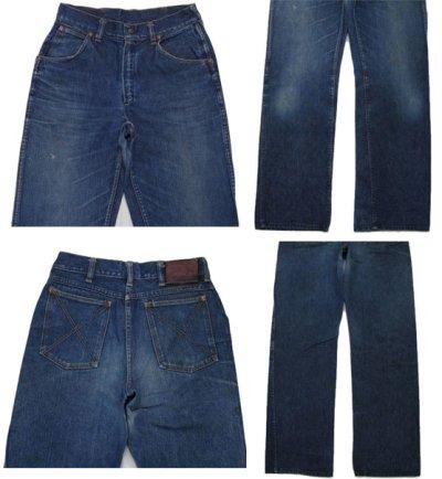 """画像1: ~1950's""""GAUCHOS"""" Indigo Denim 5Pocket Pants """"Leather Patch"""" size  w 28 inch (表記 なし)"""