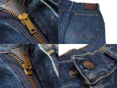 """画像4: ~1950's""""GAUCHOS"""" Indigo Denim 5Pocket Pants """"Leather Patch"""" size  w 28 inch (表記 なし) (4)"""