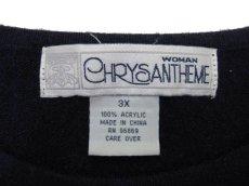 "画像4: 1990's~ ""CHRYSANTHEME"" Pullover Sweater (総柄) NAVY size L (表記 Women 3X) (4)"