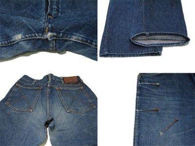 """画像2: ~1950's""""GAUCHOS"""" Indigo Denim 5Pocket Pants """"Leather Patch"""" size  w 28 inch (表記 なし)"""