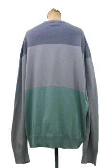 """画像2: 1990's~ """"BANANA REPUBLIC"""" Pullover Cotton Sweater GREY-GREEN size L (表記 XXL) (2)"""