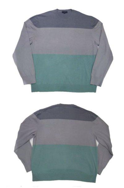 """画像1: 1990's~ """"BANANA REPUBLIC"""" Pullover Cotton Sweater GREY-GREEN size L (表記 XXL)"""