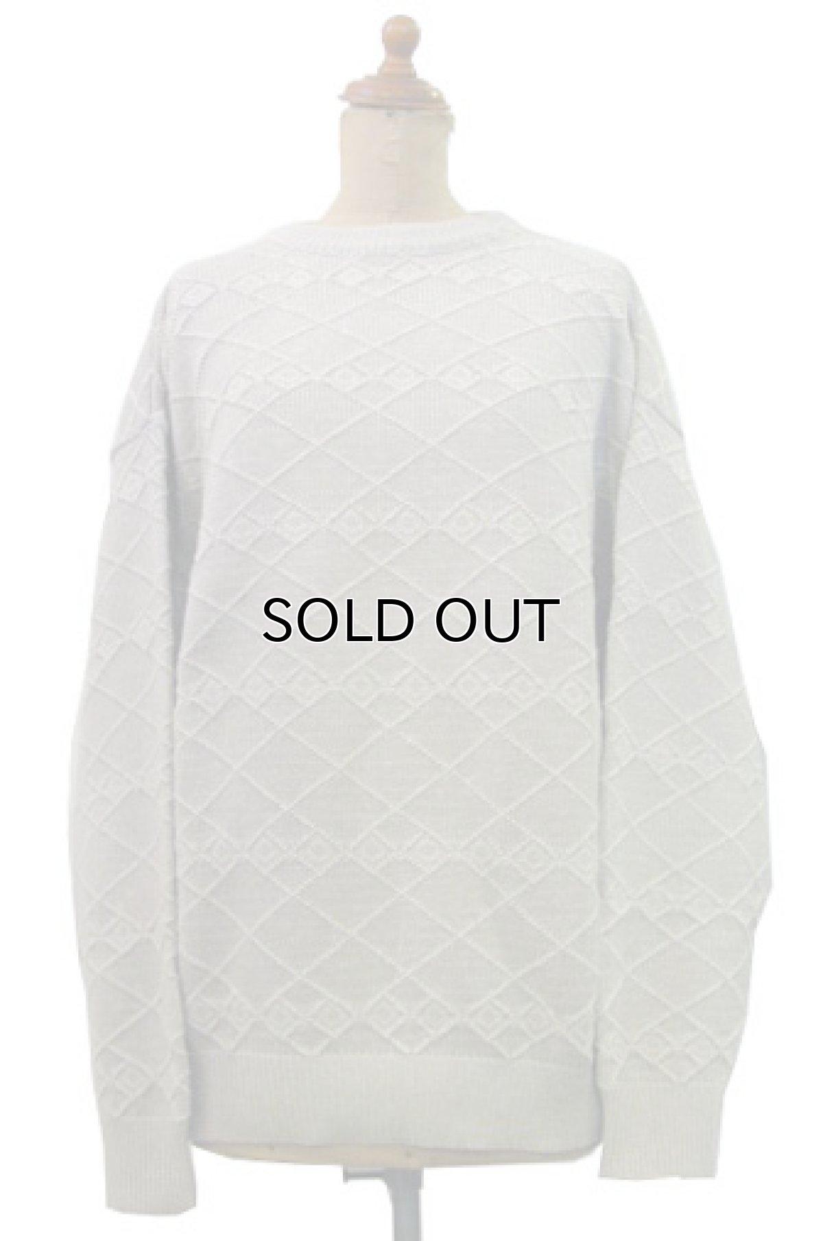 """画像1: 1990's~ """"CLAIBORNE"""" Pullover Cotton Sweater made in USA BEIGE size M (表記 M) (1)"""