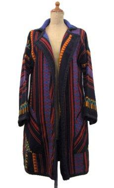 画像1: 1970's~ OLD Blanket Gown Native Pattern (総柄) size Free (表記 なし) (1)