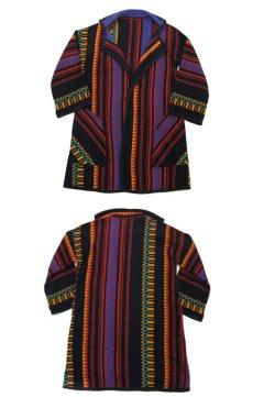 画像4: 1970's~ OLD Blanket Gown Native Pattern (総柄) size Free (表記 なし) (4)