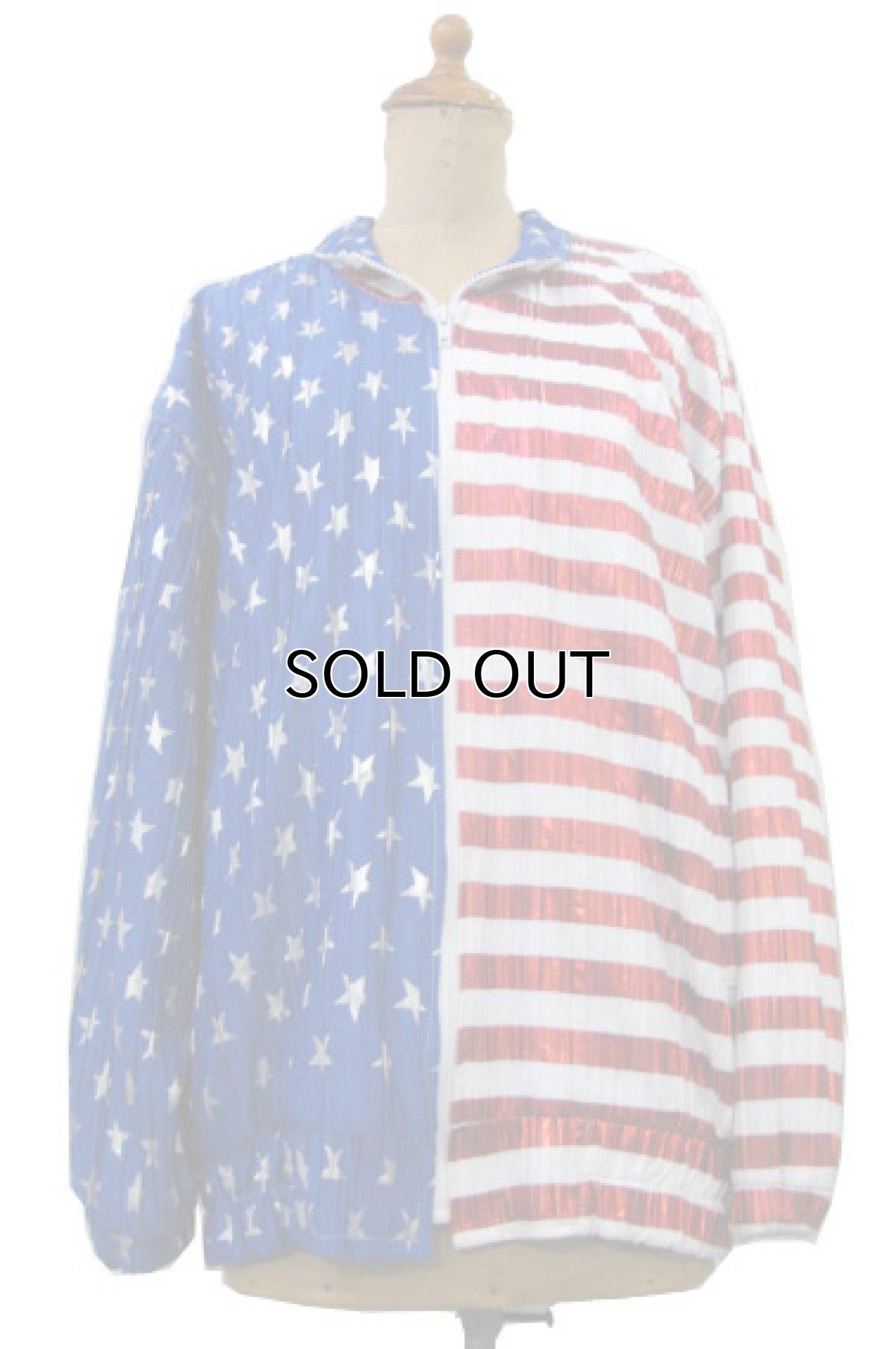 """画像1: 1990's """"Jacket by Design"""" Zip Up Jacket """"American Flag"""" WHITE / BLUE RED size M位 (表記 不明) (1)"""