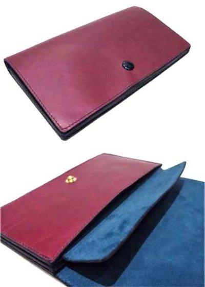 """画像1: """"JUTTA NEUMANN"""" Leather Wallet """"the Waiter's Wallet""""  color : Burgundy / Emerald 長財布"""