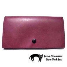 """画像1: """"JUTTA NEUMANN"""" Leather Wallet """"the Waiter's Wallet""""  color : Burgundy / Yellow 長財布 (1)"""