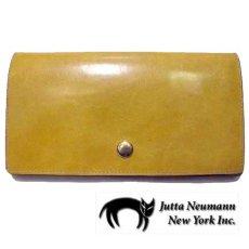 """画像1: """"JUTTA NEUMANN"""" Leather Wallet """"the Waiter's Wallet""""  color : Mustard / Pink 長財布 (1)"""
