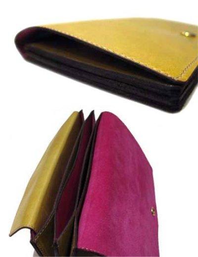 """画像2: """"JUTTA NEUMANN"""" Leather Wallet """"the Waiter's Wallet""""  color : Mustard / Pink 長財布"""