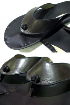 "画像5: JUTTA NEUMANN ""PETRA"" Leather Sandal GREEN size 10 D (5)"