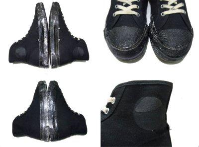 """画像1: 1960-70's """"SCATS """" Canvas Basketball Shoes BLACK size 9 1/2 (27.5 cm)"""