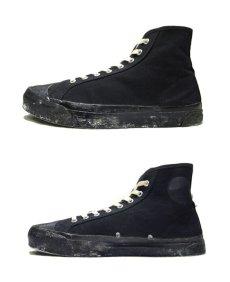 """画像3: 1960-70's """"SCATS """" Canvas Basketball Shoes BLACK size 9 1/2 (27.5 cm) (3)"""