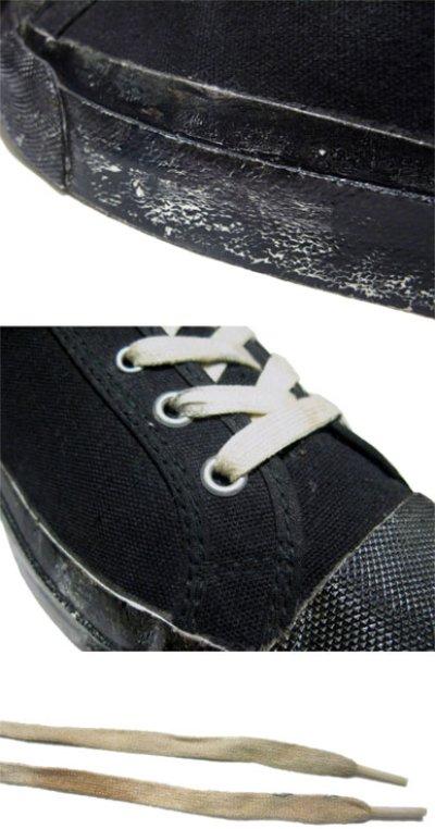"""画像2: 1960-70's """"SCATS """" Canvas Basketball Shoes BLACK size 9 1/2 (27.5 cm)"""