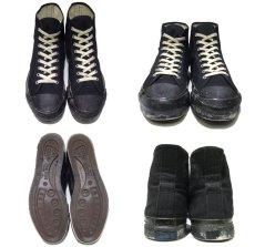 """画像2: 1960-70's """"SCATS """" Canvas Basketball Shoes BLACK size 9 1/2 (27.5 cm) (2)"""