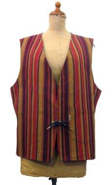 """画像2: 1970's """"LEVI'S"""" Reversible Vest Big """"E"""" DEADSTOCK DENIM / STRIPE size L  (表記 無し) (2)"""