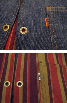 """画像4: 1970's """"LEVI'S"""" Reversible Vest Big """"E"""" DEADSTOCK DENIM / STRIPE size L  (表記 無し) (4)"""