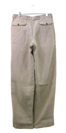 """画像2: 1980's~ """"Lindbergh"""" Two-Tuck Linen Trousers BEIGE size w 32 inch (2)"""