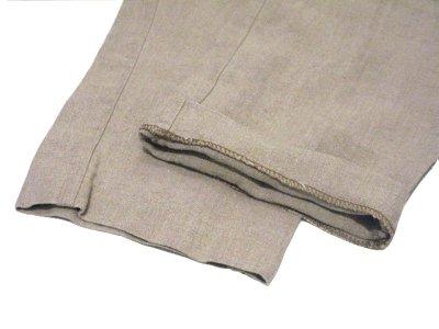 """画像3: 1980's~ """"Lindbergh"""" Two-Tuck Linen Trousers BEIGE size w 32 inch"""