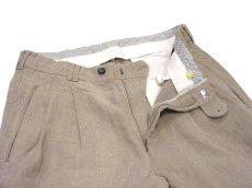 """画像5: 1980's~ """"Lindbergh"""" Two-Tuck Linen Trousers BEIGE size w 32 inch (5)"""