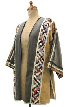 """画像1: 1970's """"THE FRENCH CLIQUE"""" Design Harf Sleeve Jacket BEIGE / OLIVE size S (表記 なし) (1)"""
