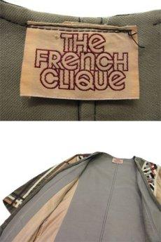 """画像5: 1970's """"THE FRENCH CLIQUE"""" Design Harf Sleeve Jacket BEIGE / OLIVE size S (表記 なし) (5)"""