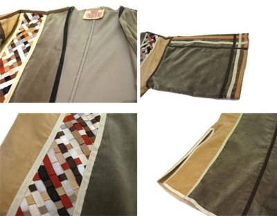 """画像3: 1970's """"THE FRENCH CLIQUE"""" Design Harf Sleeve Jacket BEIGE / OLIVE size S (表記 なし)"""