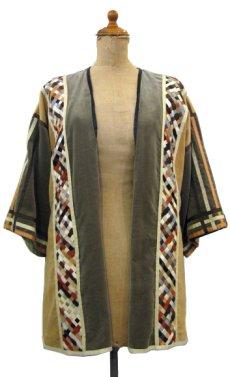 """画像2: 1970's """"THE FRENCH CLIQUE"""" Design Harf Sleeve Jacket BEIGE / OLIVE size S (表記 なし) (2)"""