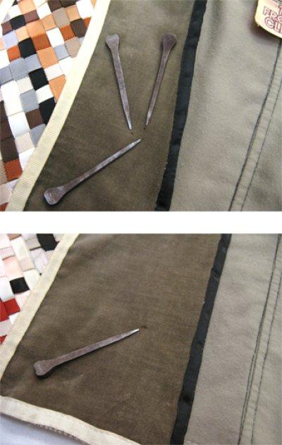 """画像2: 1970's """"THE FRENCH CLIQUE"""" Design Harf Sleeve Jacket BEIGE / OLIVE size S (表記 なし)"""