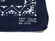 画像2: OLD BANDANNA  one washed NAVY  55 x 52.5 cm (2)