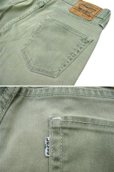 画像2: Levi's 511 Cotton Skinny Pants Bright Green size w 31 inch (表記 w30 L30)