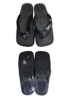 """画像2: NEW """"SENSI"""" Shower Sandal made in ITALY BLACK size 9 (2)"""